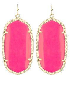 Danielle Earrings in Neon Pink - Kendra Scott Jewelry