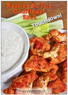 Helyn's Plant-Based Kitchen » Roasted Buffalo Cauliflower Bites + 10 More Vegan Dishes for GAME DAY!