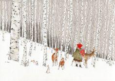 겨울의 자작나무 숲을 걷는 것.... 아무 말없어도 편안한 너와  하고 싶은 것....