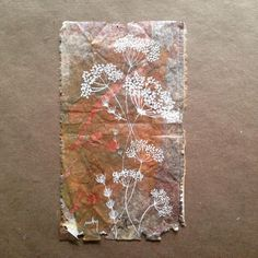 363 days of tea. Day 183. Nature's #fireworks #recycled #teabag #art