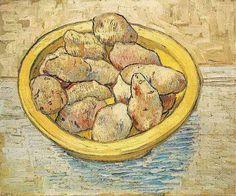 Vincent van Gogh. Still Life: Potatoes in a Yellow Dish. Arles: March 1888