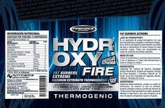 Etiqueta original del quemador de grasas de Fireforce Nutrition