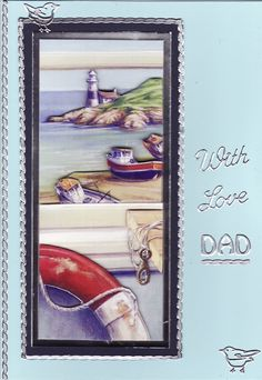 3D 'With Love Dad' Card