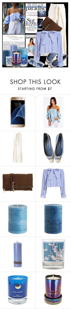 """Candle Light Blue"" by wear-it ❤ liked on Polyvore featuring BCBGMAXAZRIA, Samsung, Proenza Schouler, Louis Vuitton, Dsquared2, Pinko, Pier 1 Imports, Flamant, Maison La Bougie and Hightide Devon"