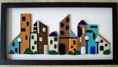 Fused Glass City Scene from Artistic Flair on Etsy.com