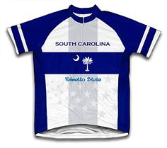 South Carolina Flag Short Sleeve Cycling Jersey for Women Size L     You can 012c750d6