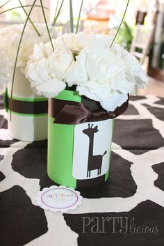 Centerpieces - Giraffe Baby Shower