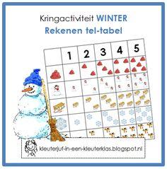 Kringactiviteit rekenen - Tel-tabel thema winter