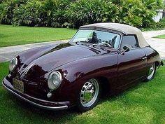 Burgundy Porsche 356