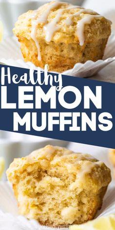 Lemon Dessert Recipes, Köstliche Desserts, Cupcake Recipes, Baking Recipes, Muffin Recipes, Healthy Lemon Desserts, Healthier Desserts, Flour Recipes, Almond Recipes