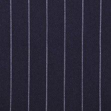 Navy/White Striped Suiting