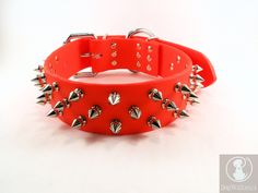 Spike Dog Collar  15 Wide  Custom Spike Collar  Beta by DogWalkies, $65.00