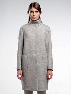 Пальто женское цвет светло-серый, пальтовая ткань, артикул 3016380p10091