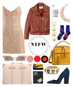 """""""Untitled #206"""" by gina-cremont ❤ liked on Polyvore featuring Dee Keller, Globe-Trotter, Casetify, FOSSIL, David Koma, DIANA BROUSSARD, Issey Miyake, Acne Studios and Wander Beauty"""