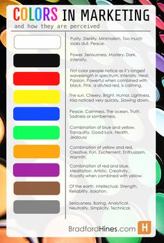 The Psychology Of Colors In Marketing, an Infographic via @Brad Hines