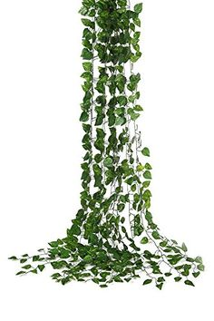 Yatim 78Ft 12 Strands Artificial Flowers Silk Fake Hanging Vine Plant Leaves Garland Home Garden Wall Decoration Money *** Find out more about the great product at the image link. (This is an affiliate link and I receive a commission for the sales)