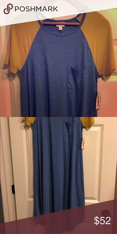 LuLaRoe Carly - Size Small NEW WITH TAGS!! Never worn LLR Carly. Super cute dress, the mustard just doesn't work for me :-) my loss is your gain LuLaRoe Dresses Asymmetrical