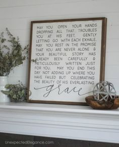 I love this plaque...I want to write that saying on canvas and hang in my bedroom
