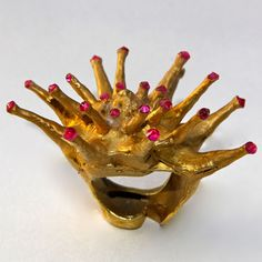 Poseidon Collection Gold Ring by Samira Mazloom