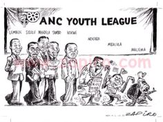 Zapiro, ANC Youth League Political Satire, Social Issues, Funny Pictures, Funny Pics, Evolution, Infographic, Cartoons, Youth, Politics