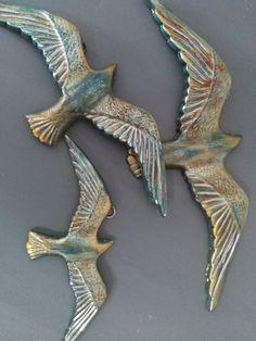 Seramik polyester kuşlar