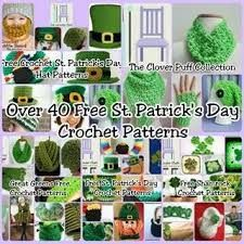 Patrick's Day Crochet Patterns Over 40 Free St. Patrick's Day Crochet Patterns - The Lavender ChairOver 40 Free St. Patrick's Day Crochet Patterns - The Lavender Chair Crochet Books, Crochet Gifts, Cute Crochet, Irish Crochet, Crochet Yarn, Crochet Things, The Lavender Chair, Holiday Crochet, Yarn Crafts