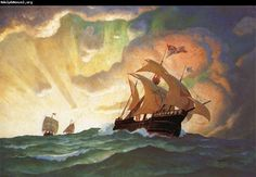 A New World in View by N.C. Wyeth