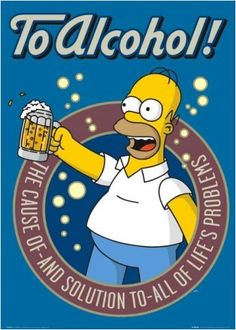 The Simpsons Poster To Alcohol Homer Simpson RhythmHound