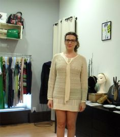 Yolanda Rapaza Ela Diz, dress & sweater by Nice Things