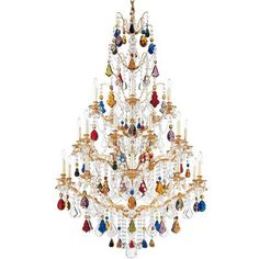 Schonbek Bordeaux 25 Light Crystal Chandelier Crystal Type: Legacy Clear, Finish: Heirloom Gold