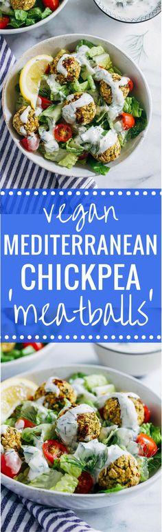 Vegan Mediterranean Chickpea 'Meatballs' - Making Thyme for Health