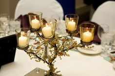 Gold Candle Holders Wedding