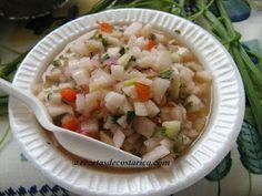 Cocina Costarricense: ceviche de chayote