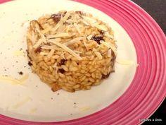Risoto de Funghi e Shitake. Excelente risoto de cogumelos. Agrada vegetarianos e não vegetarianos.