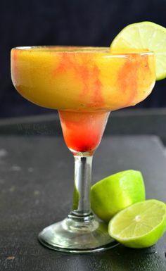 Sunset Margarita. Refreshing, sweet frozen margarita, perfect for any summer celebration. from willcookforsmiles.com