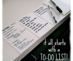 it all starts with a to-do list - truly worth reading, even if you think it's all self-explanatory!
