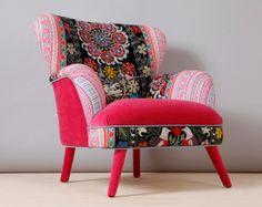 Suzani armchair pink candy di namedesignstudio su Etsy, $1600.00