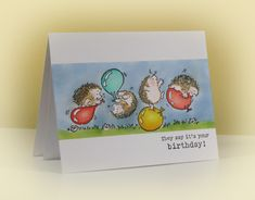 Hedgie Birthday a la Heather by swldebbie - Cards and Paper Crafts at Splitcoaststampers