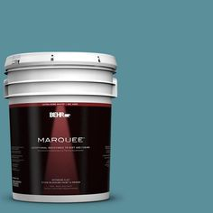 BEHR MARQUEE 5-gal. #520F-5 Harbor Flat Exterior Paint