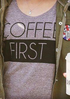 Coffee First Tee ==
