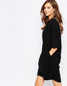 83f4ffbc500bf Whistles Plain Longline Shirt Dress at asos.com