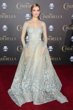Click to see the very best times that celebrities dressed like Disney princesses on the red carpet (like Lily James who was stunning in Elie Saab Couture at the Cinderella premiere).