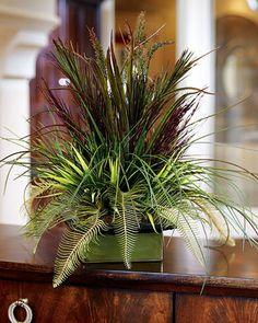 Silk Grass Table Arrangements
