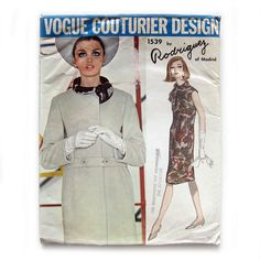 1960s Vintage Vogue Couturier  Sewing Pattern  by SelvedgeShop
