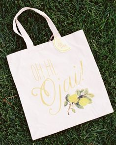 Cheeky welcome bags for a wedding in Ojai, CA