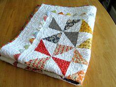 pinwheel baby quilt folded | Flickr - Photo Sharing!