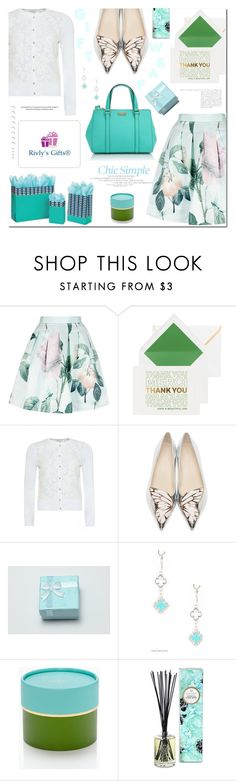 """Rivly's Gifts"" by mashajazzliving ❤ liked on Polyvore featuring Ted Baker, Kate Spade, Sophia Webster, Voluspa and rivlygifts"