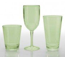 Captivating Eastman Tritan Classic Celadon Tumbler Patio Glasses (Set Of