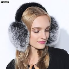 d3d4252ede766 US $41.0  Cache Oreille Rushed 2017 Fashion Trend Winter Full Leather Natural  Fox Fur Ear Muffs Thermal Girl Women's Earmuffs Package -in Women's Earmuffs  ...