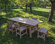 Lärkan dininggroup oiled oak small concists of four chairs and one small table Made in Sweden